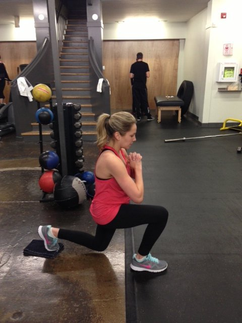 Emily reverse lunge