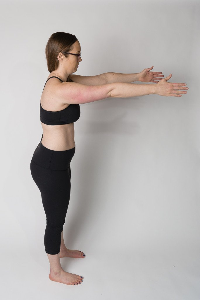 Ribs Over Hips Arms Up