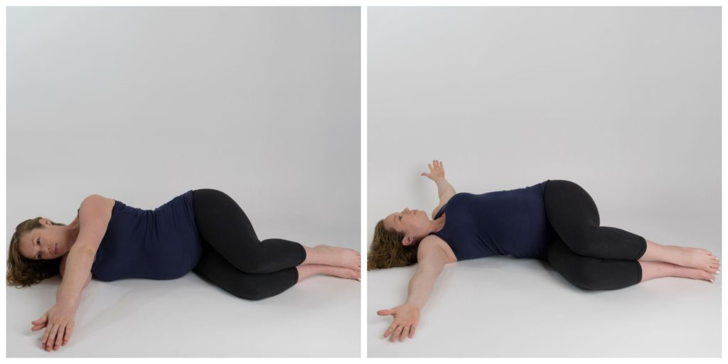 Side Lying Thoracic Rotation Start and End
