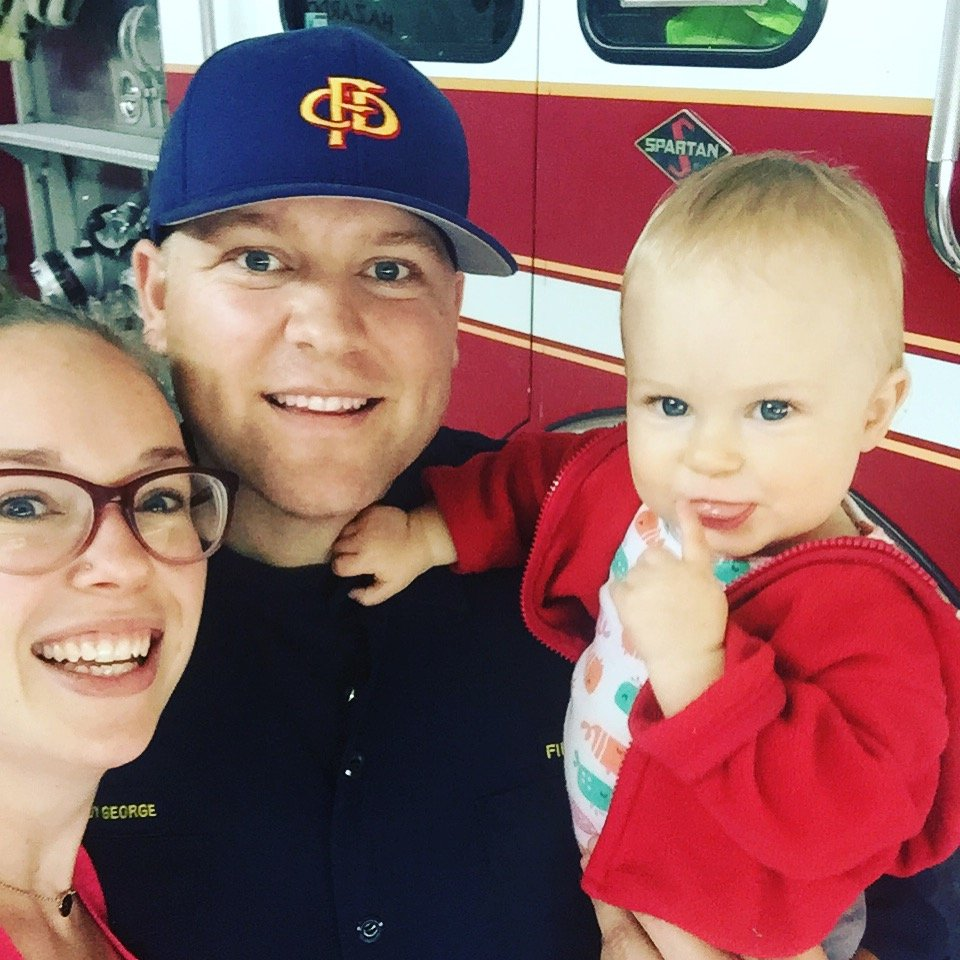 Family photo fire station 1 year