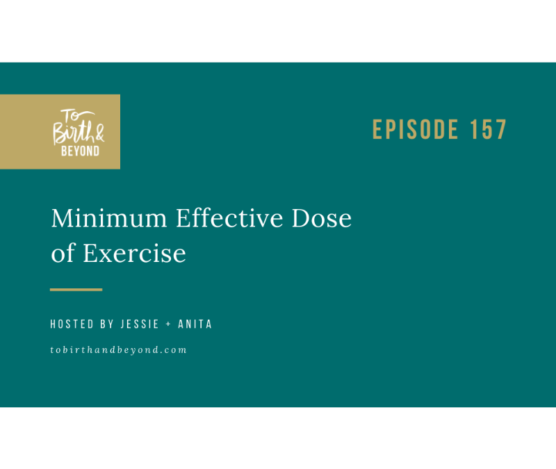 [PODCAST] Minimum Effective Dose of Exercise